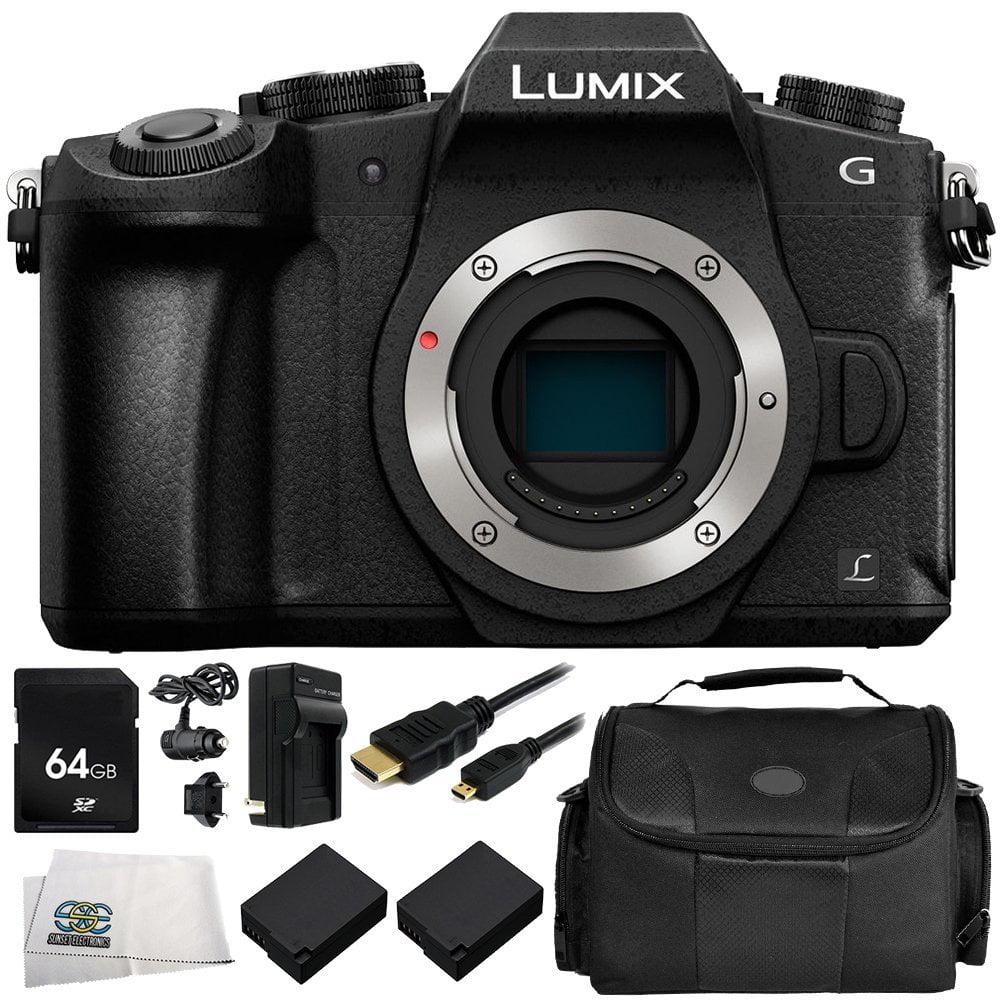 Panasonic Lumix Dmc G85 Digital Camera Body Only 8pc Kit Includes 64gb Sd Memory Card 2 Replacement Batteries Carrying Case More Walmart Com Walmart Com