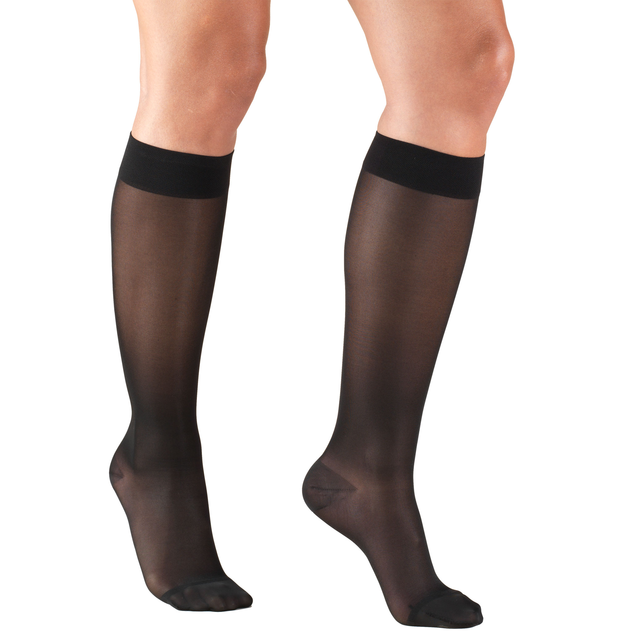 Women's Stockings, Knee High, Sheer: 15-20 mmHg, Beige, Medium