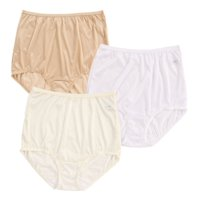 Women's Shadowline 17042pk Nylon Classics Brief Panty - 3 Pack