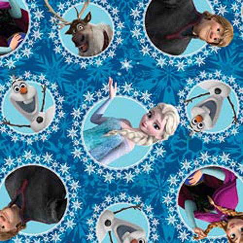 "Frozen Character Fleece, 59/60"" Wide, 100 Percent Polyester, 10 yards 51870"