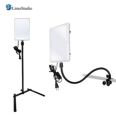 Pole Mount Lcd Stand Adapter - Loadstone Studio, LED Light Panel with Gooseneck Extension Adapter, Mini Table Top Light Stand, and Mounting Clamp, Photo Video Lighting Kit, Photo Studio [2 Pack], WMLS4333