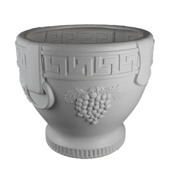 Union Products 53521SC Classic Roman Concrete Grape Pattern Urn Planter by Union Products