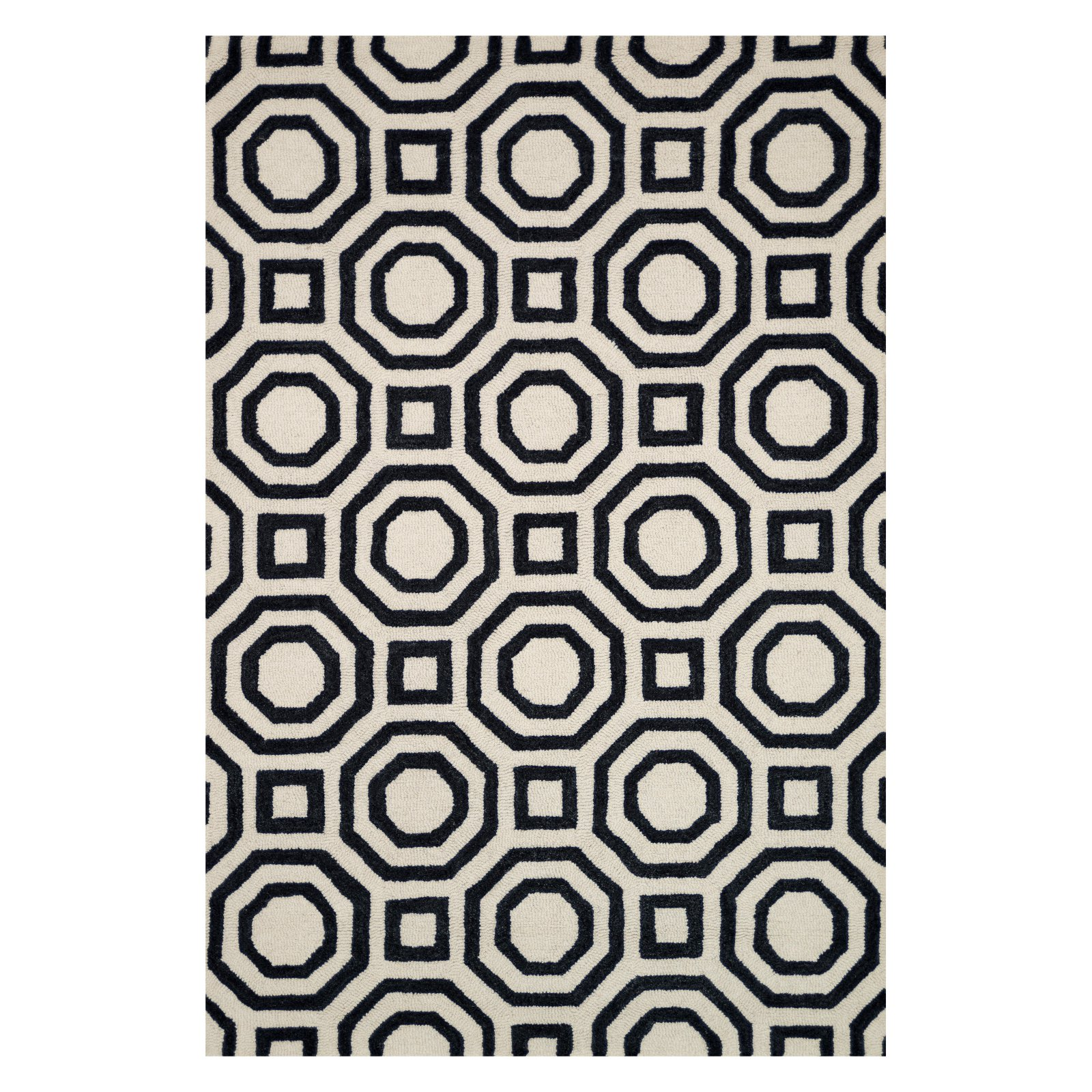 Loloi Weston Area Rug - Ivory / Black