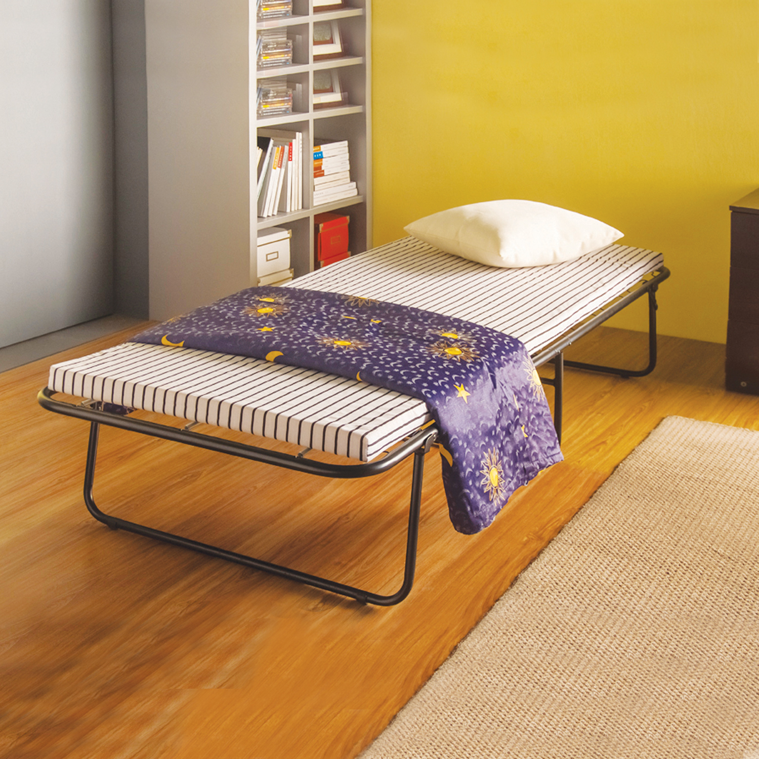 Home Source Mitzi Black Metal Twin Folding Bed Frame