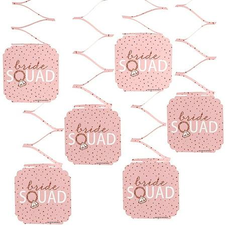 Bride Squad - Rose Gold Bridal Shower or Bachelorette Party Hanging Decorations - 6 - Bachelorette Decorations