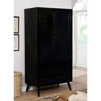 Furniture of America Stewart I 2-Drawer Multi-Storage Armoire