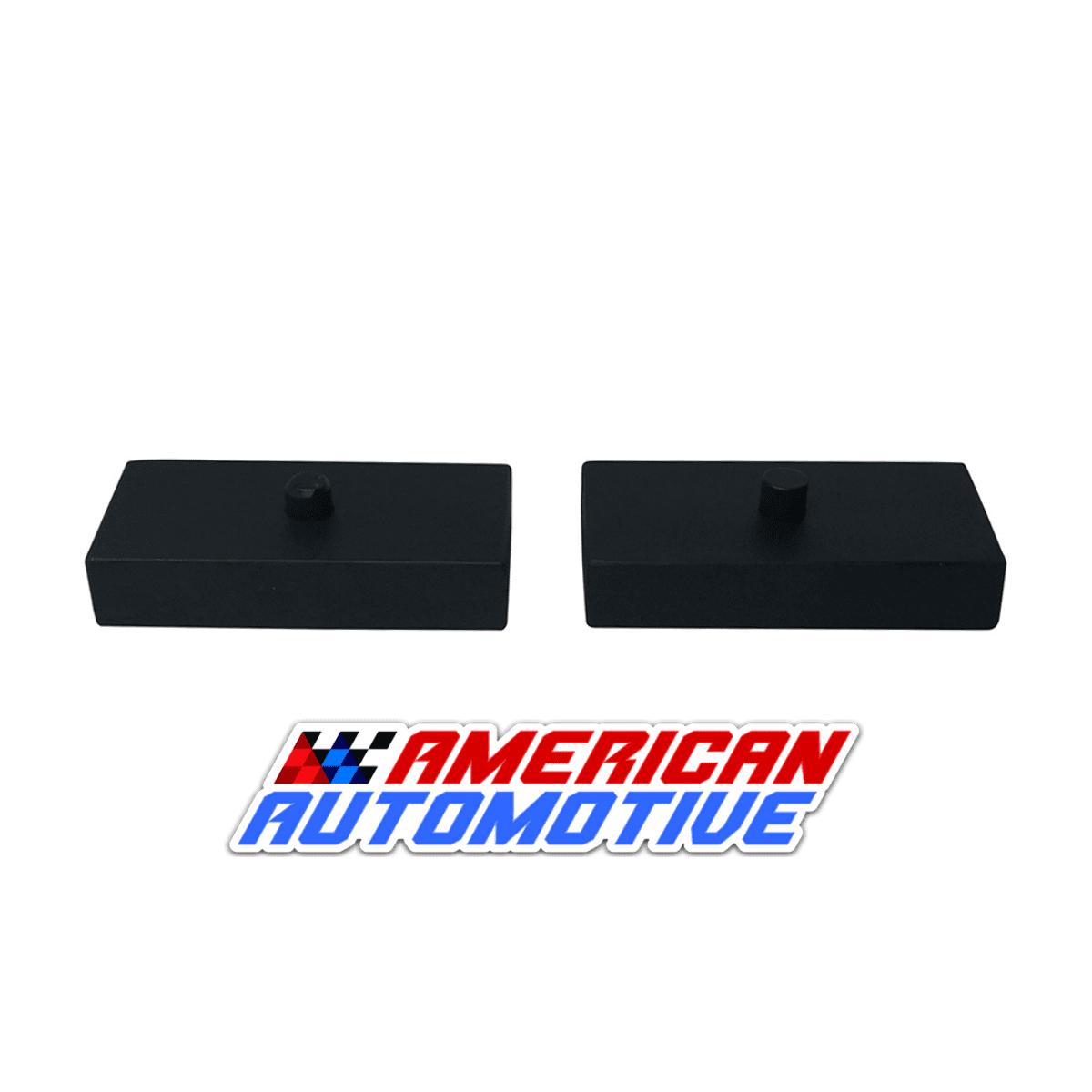 "Rear Lift Kit 1/"" Steel Blocks U-Bolts 2000-2013 Chevy Suburban 2500 8-LUG"
