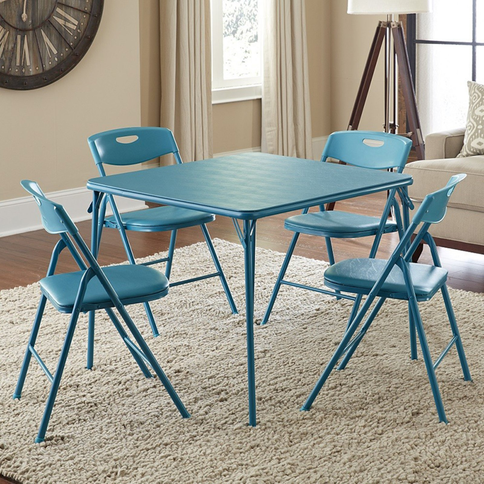 Cosco 5-Piece Folding Table and Chair Set, Multiple Colors - Walmart.com