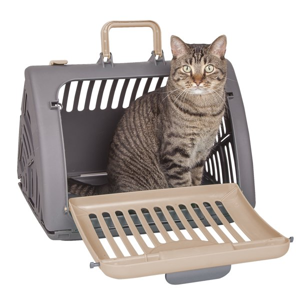 "SportPet Designs Collapsible Walk-In Cat Carrier, 18""L"
