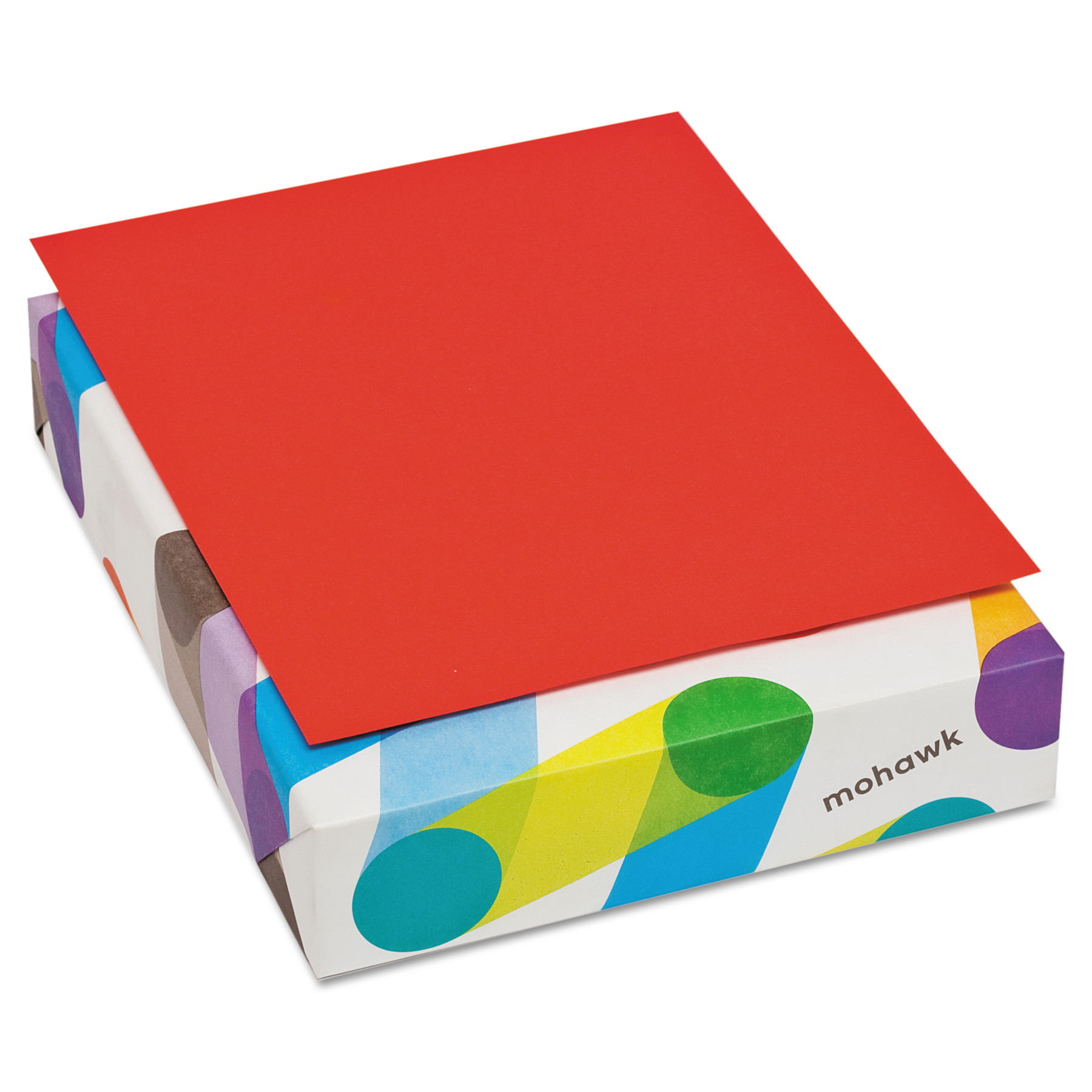 Mohawk BriteHue Multipurpose Colored Paper, 20lb, 8 1/2 x 11, Red, 500 Sheets -MOW471608