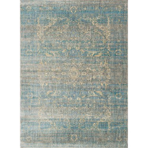 Alexander Home  Contessa Traditional Floral Scroll Distressed Rug - 9'6