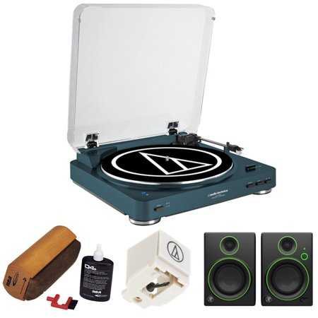Audio Technica Fully Automatic Wireless Belt Drive Stereo Turntable   Navy  At Lp60nv Bt