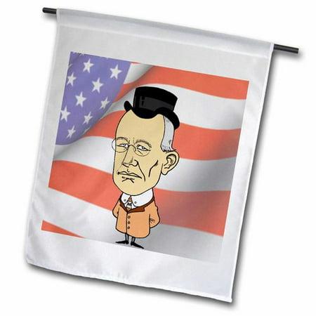 3dRose President Woodrow Wilson Polyester 1'6'' x 1' Garden Flag