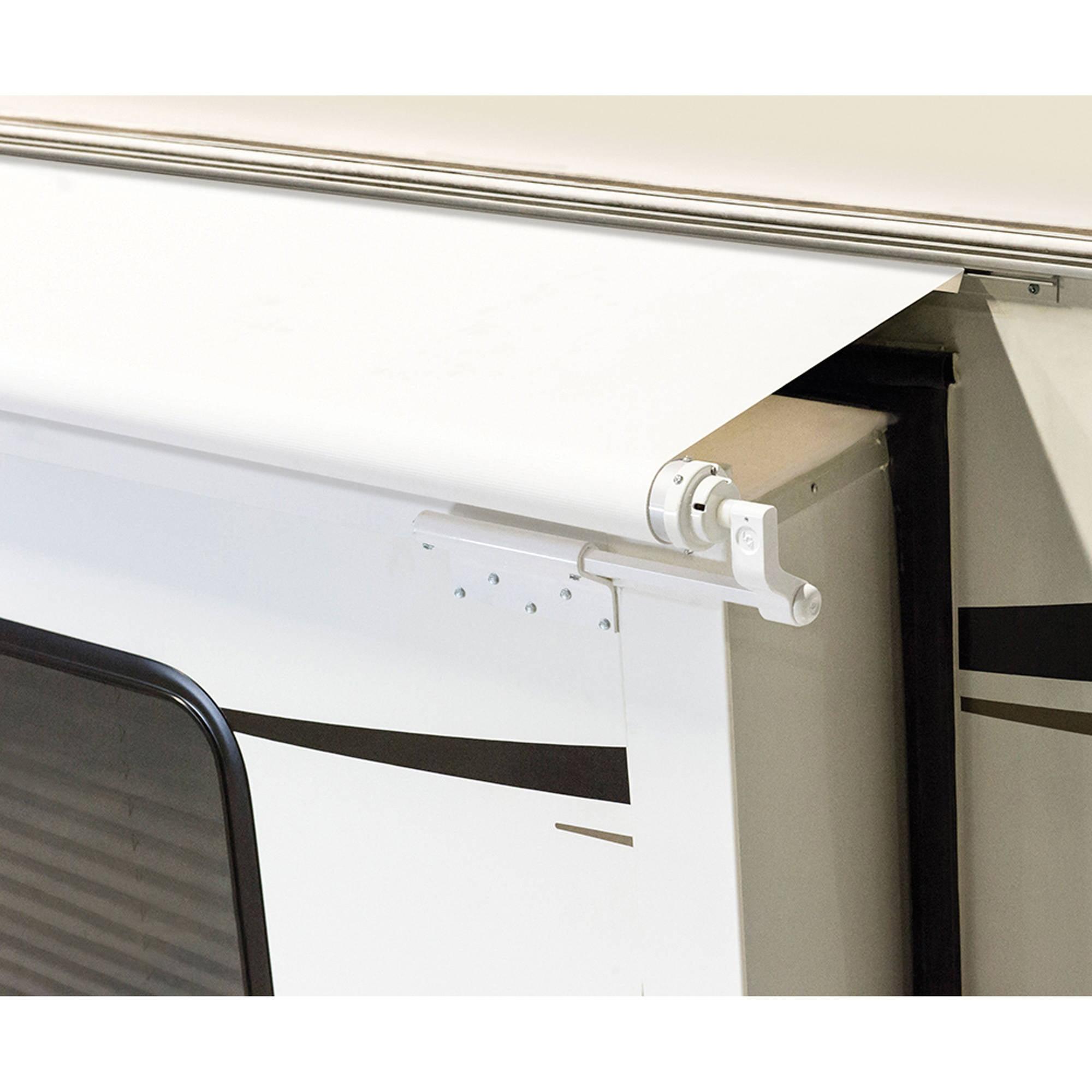 Lippert Components Solera White Slider Awning with White Weatherguard