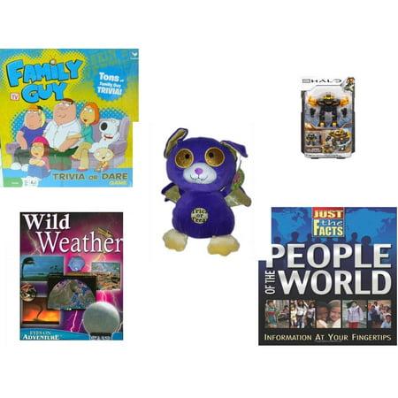 Children's Gift Bundle [5 Piece] -  Family Guy Trivia or Dare  - Mega Bloks Halo UNSC Offworld Cyclops  - Sugarloaf s Trick or Treat Bat  11