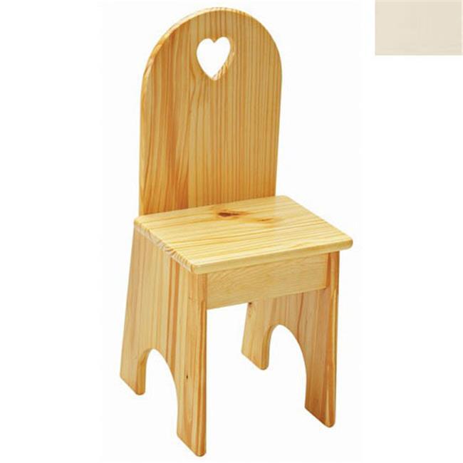 Little Colorado 022LINHT Solid Back Heart Kids Chair in Linen