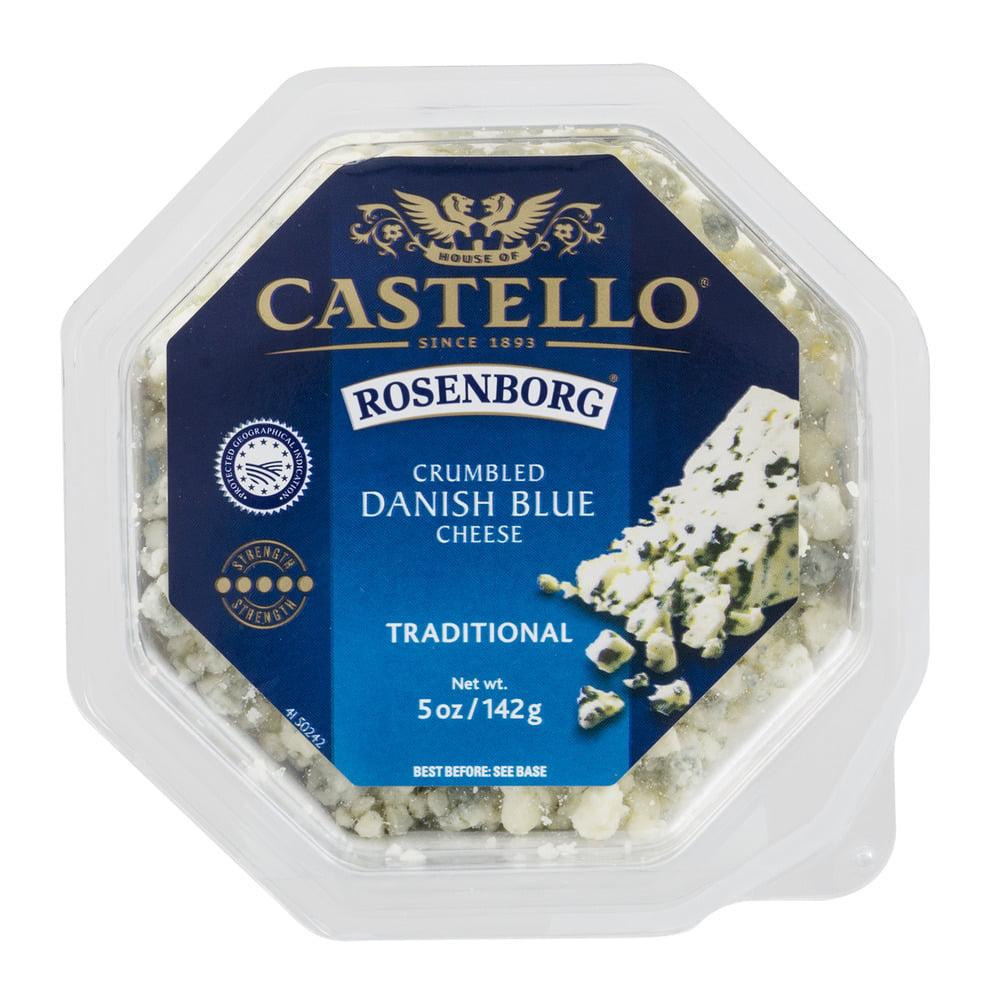 Castello Rosenborg Crumbled Danish Blue Cheese Traditional, 5.0 OZ by Arla Foods, Inc.