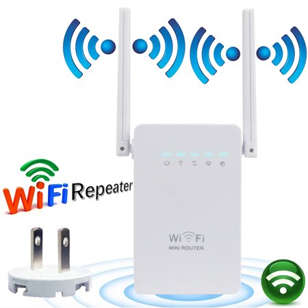 Dual Antennas 300Mbps Wireless Wifi Router Repeater Range Wi-Fi W-lan Signal Booster Extender