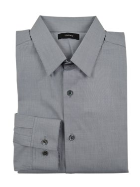 963ea2514a Product Image New 3534-1 Theory Mens Gray Grey Shirting Sylvain Slim Fit  Dress Shirt Large L