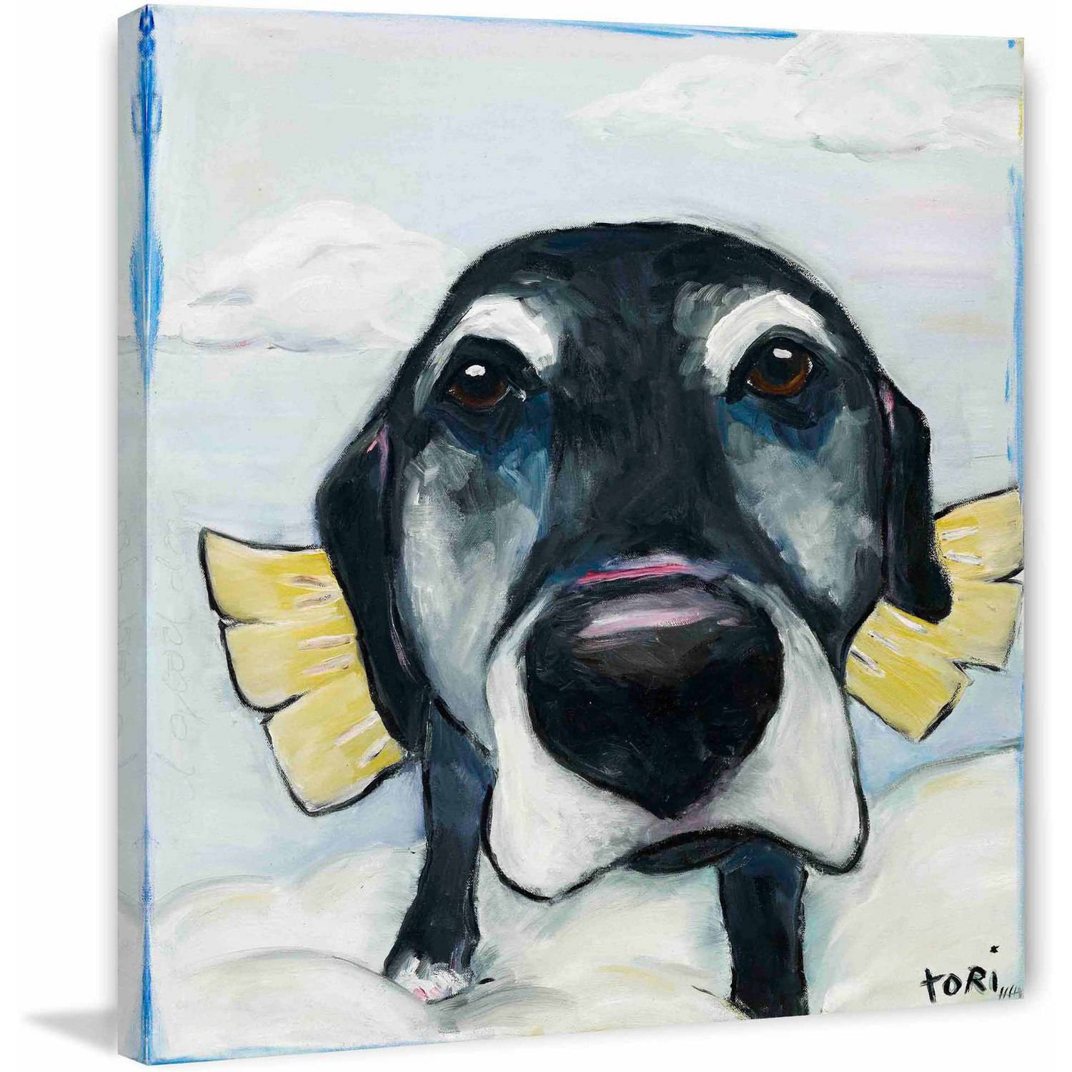 """Marmont Hill """"All Good Dogs"""" by Tori Campisi Painting Print on Canvas"""