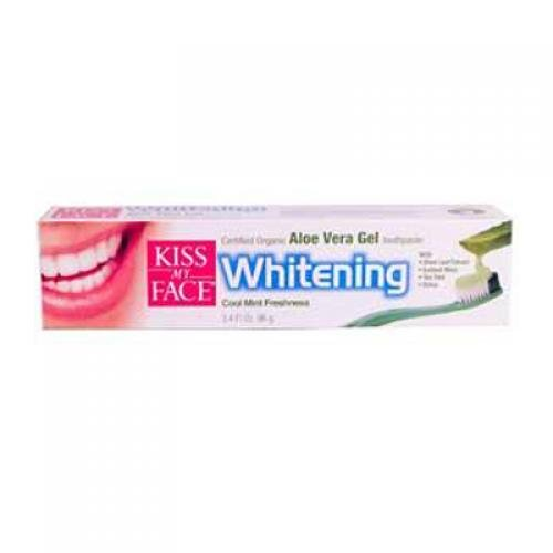 Kiss My Face 0166496 Toothpaste with Organic Aloe Vera Gel Whitening Cool Mint Freshness - 3. 4 fl oz