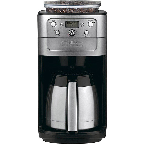 Cuisinart Burr Grind & Brew Thermal 12-Cup Automatic Coffeemaker, Brushed Chrome DGB-900BC