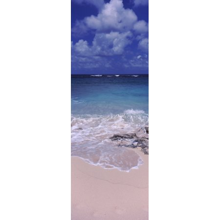 Clouds over the sea Island Harbour Anguilla Canvas Art - Panoramic Images (27 x 9)