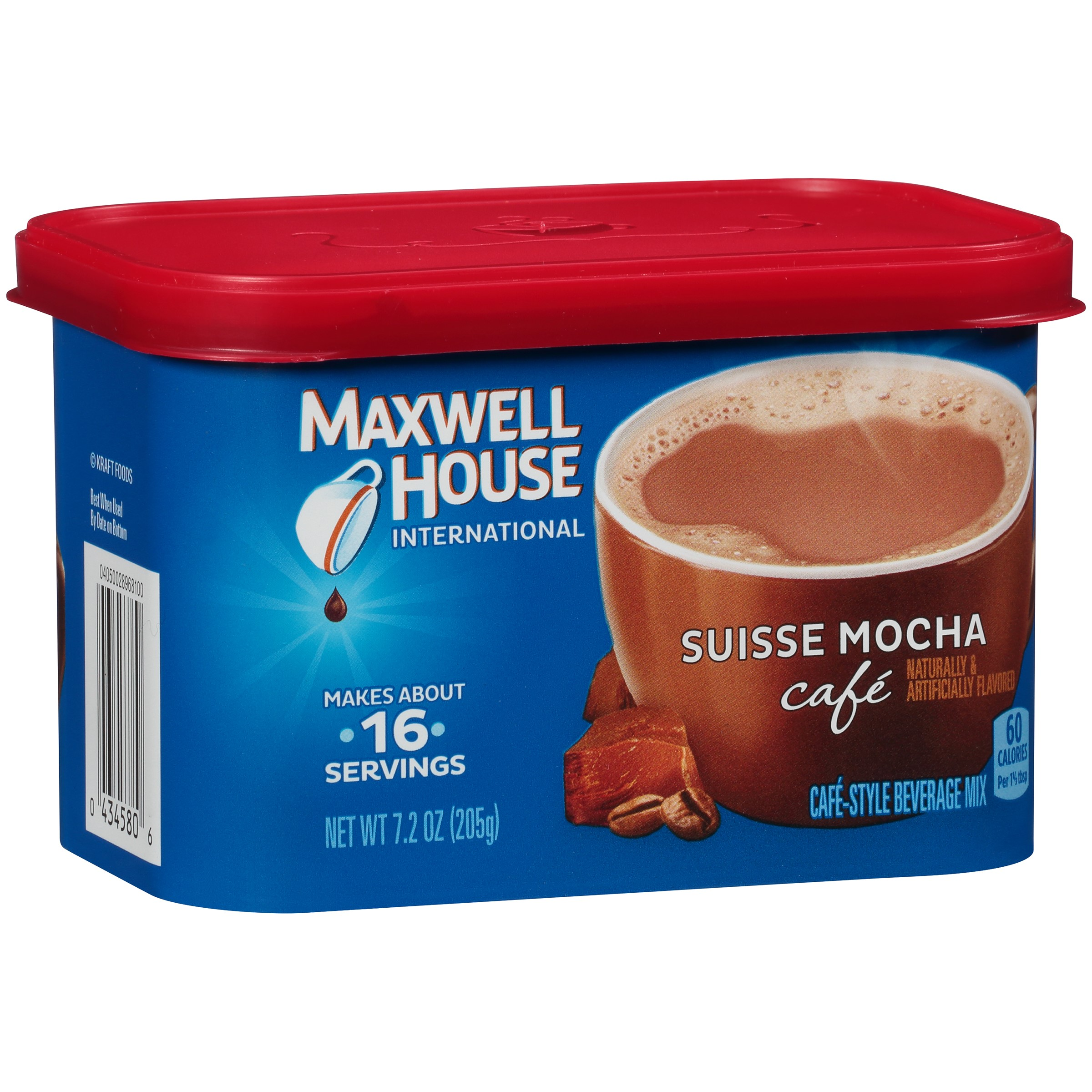 Maxwell House International Cafe Suisse Mocha Coffee Beverage Mix, 7.2 oz