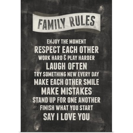 Great BIG Canvas | Rolled Kate Lillyson Poster Print entitled Family Rules (Lizzie Kate Halloween Rules)