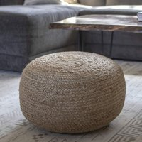 Decor Therapy Natural Jute Woven Round Floor Pouf