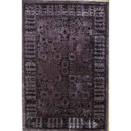 Linon  Platinum Collection Isphahan Grey Persian Modified Polyester Area Rug  2 X 3   Overstock