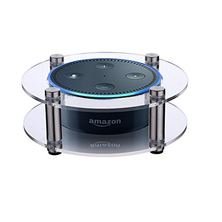 Acrylic Speaker Stand for Amazon Echo Dot (2nd Generation) Smart Home Décor Guard Station For Alexa (Random Color: Black/Clear)