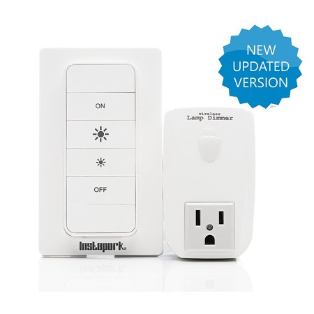 Wireless Remote Electronics Plug-In Lamp Dimmer with Wall Mount Included Easy Installation-Free Instapark® 28064 Dimming Outlet ()