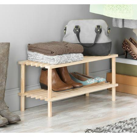 "Whitmor 6026-3562 Natural Wood Household Shelf, 10.25 X 24.75 X 11.5"""