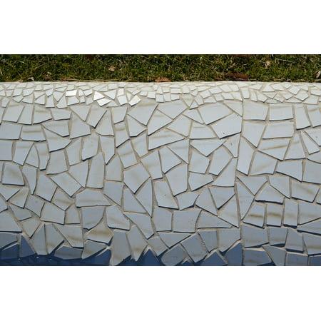 LAMINATED POSTER Mosaic Glass Pattern Texture Shard Design White Poster Print 24 x 36