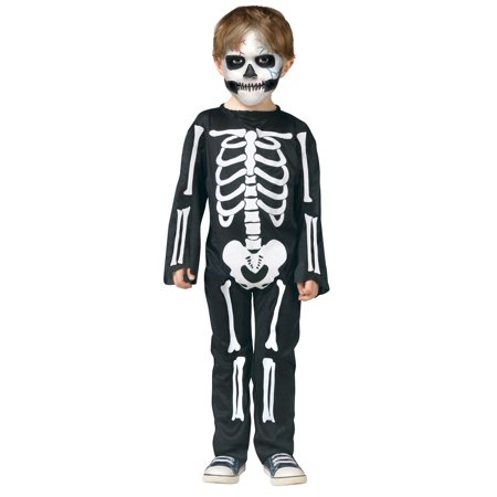 Skull Scary Skeleton Bones Toddler Boys Girls Halloween Printed Jumpsuit Costume - Halloween Scary Skull