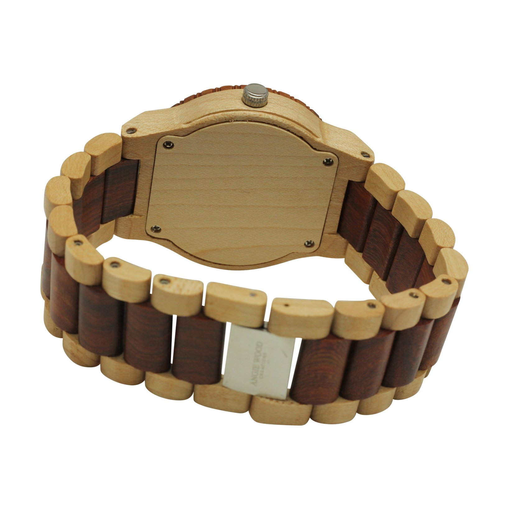 Angie Wood Creations Maple Men's Watch With Maple and Red Sandalwood Bracelet - image 1 de 7