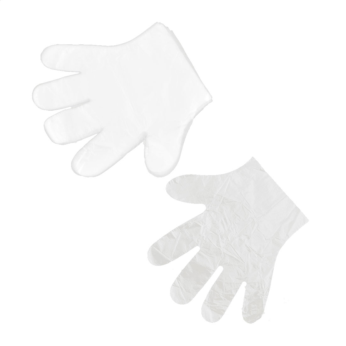 Restaurant Plastic Food Service Hand Protective Disposable Gloves Clear 100 Pcs