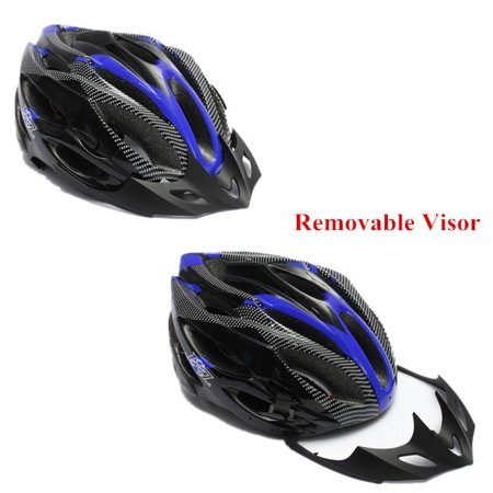 Safety Helmet Adjustable Bicycle Bike Helmet Cycling Road Carbon Visor Mountain for Adult Mens Women outdoorgood Boys Unisex - image 1 of 9