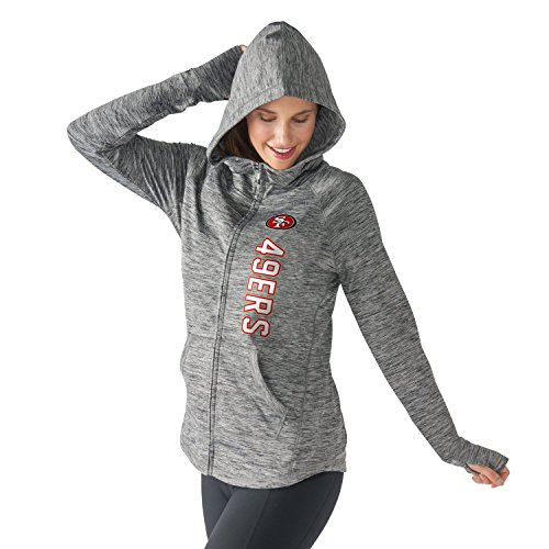 Women's G-III 4Her by Carl Banks NFL Recovery Full Zip Up Hoodie (Large, San Francisco 49ers)