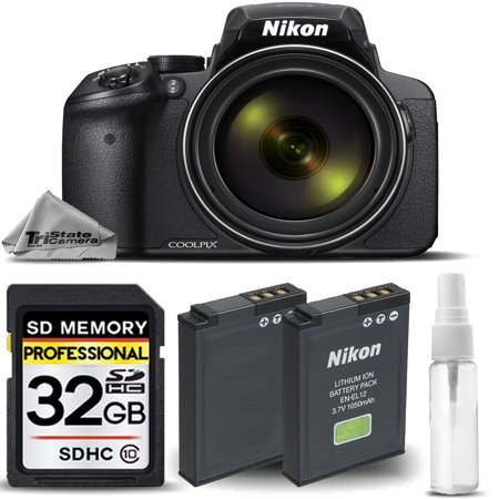 Nikon COOLPIX P900 Digital Camera 83x Optical Zoom WiFi + EXT BATT - 32GB KIT