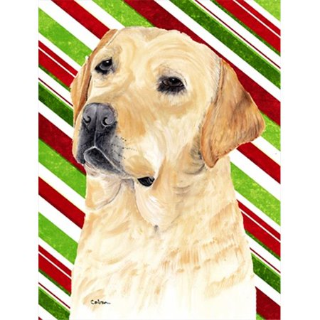 Labrador Candy Cane Holiday Christmas Flag - Garden Size, 11 x 15 in. - image 1 of 1