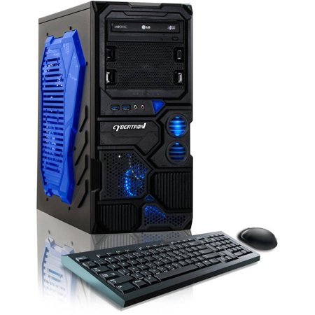 CybertronPC Blue Borg-Q TGM4213A Desktop PC with AMD FX-4130 Quad-Core Processor, 8GB Memory, 1TB Hard Drive and Windows 8.1 (Free Windows 10 Upgrade before July 29, 2016) Monitor Not Included