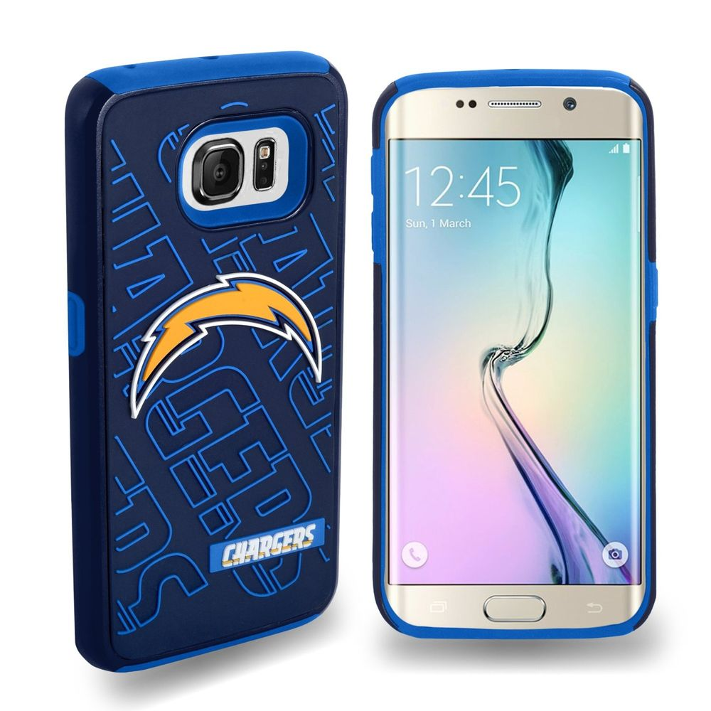 Samsung Galaxy S6 Edge Case, by Insten San Diego Chargers Hybrid Dual Layer Hard Plastic/TPU Shockproof Case Cover For Samsung Galaxy S6 Edge - Blue - image 1 de 1