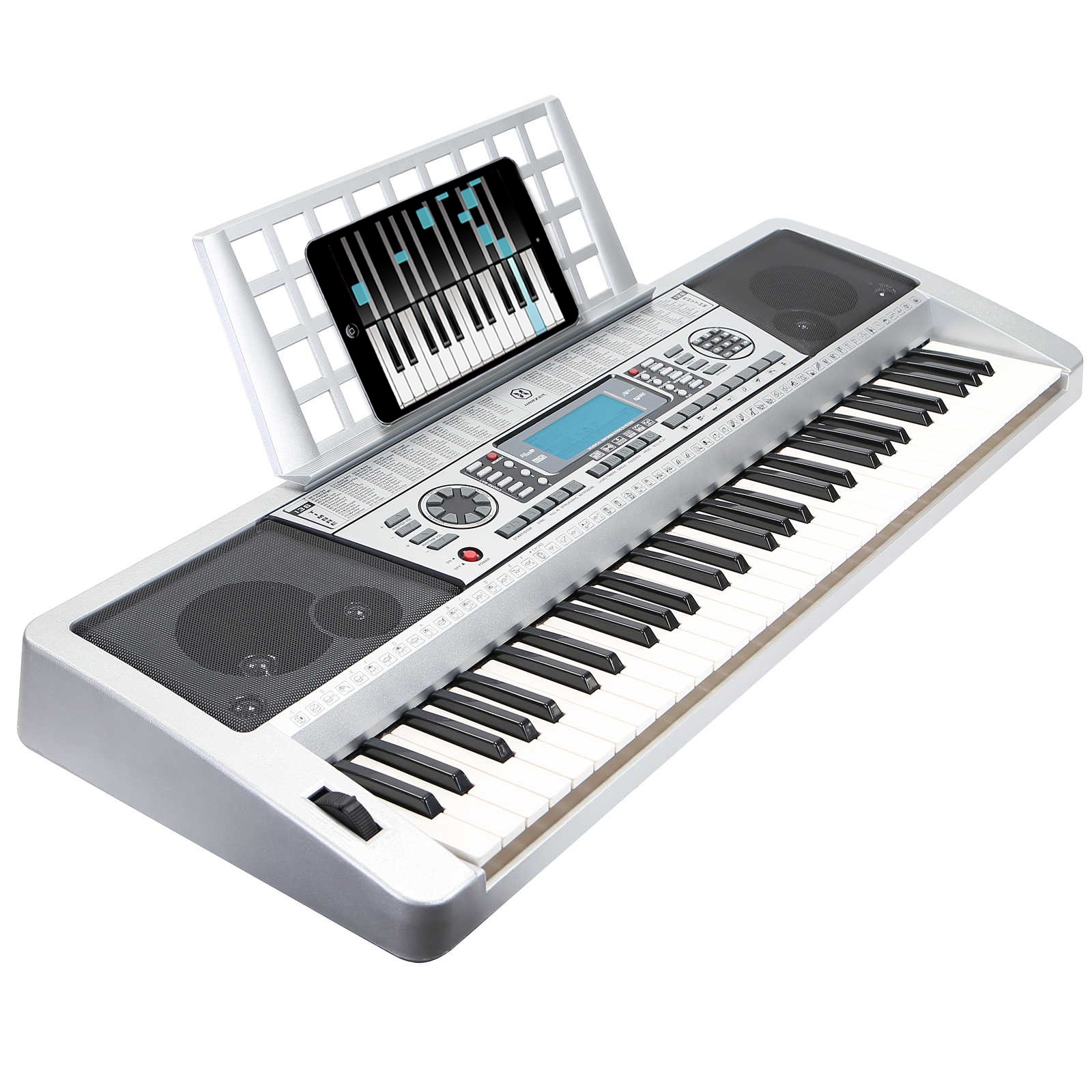 Hamzer 61-Key Digital Music Piano Keyboard – Portable Electronic Musical Instrument - MIDI Output & Touch Sensitive Keys