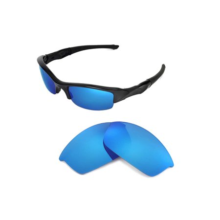 Walleva Ice Blue Polarized Replacement Lenses for Oakley Flak Jacket (Flak Jacket Clear Lenses)