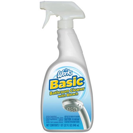 The Works Basic Bathroom Cleaner With Bleach 32 Fl Oz
