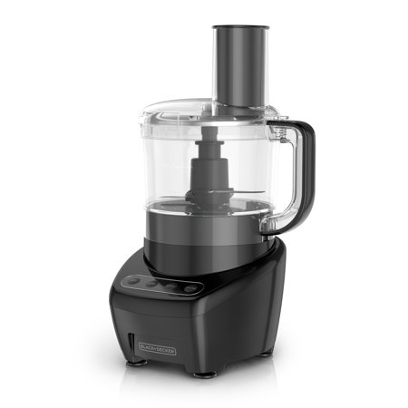 BLACK+DECKER Easy Assembly 8-Cup Food Processor, Black,