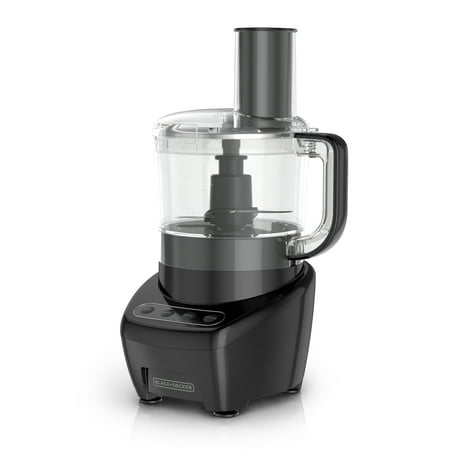BLACK+DECKER Easy Assembly 8-Cup Food Processor, Black, FP4200B