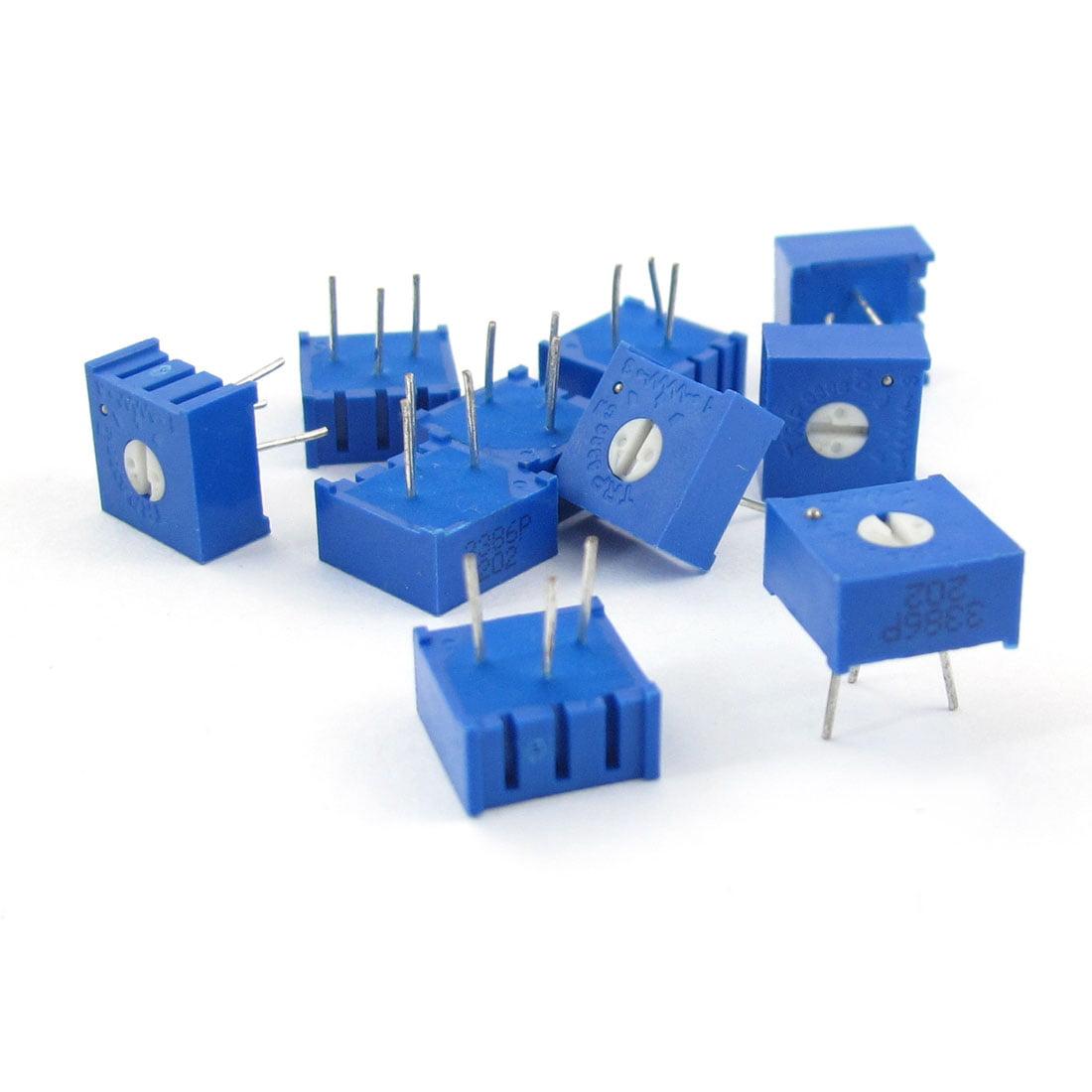 Unique Bargains 10 x 3386P 202 2K Ohm Single Turn Design Potentiometer Trimmer Variable Resistor - image 1 of 1